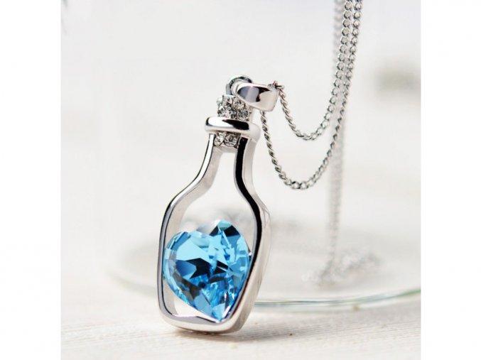 Dámský náhrdelník láhev lásky s řetízkem