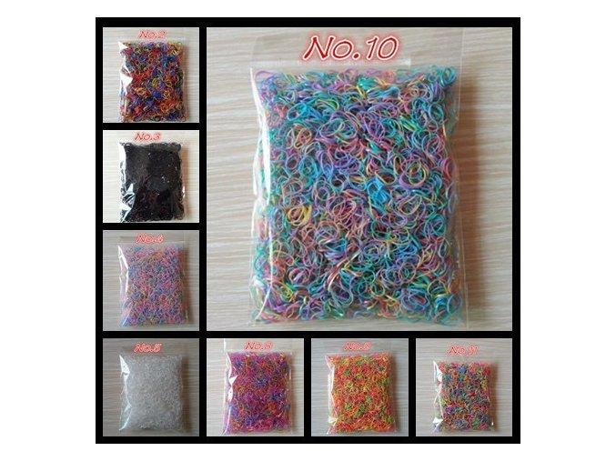 Vlasové gumičky různé barvy