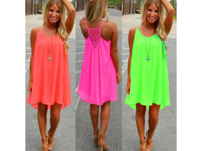 Dámské letní šaty Victoria (barva Zelená, Velikost 3XL)