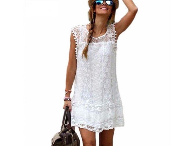 Dámské krajkové letní šaty