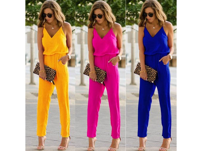 New Women s Sexy Strap Slim Sleeveless Bodycon Jumpsuit Romper Casual Loose V neck Slim Trousers.jpg 640x640