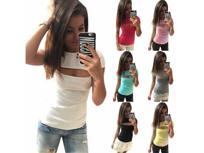Dámské tričko Claire (barva světle modrá, Velikost XL)