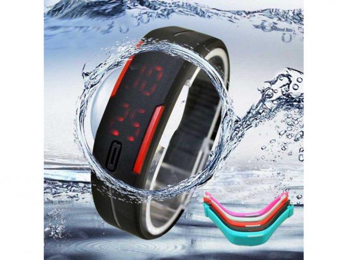 Sportovní silikonové unisex hodinky (Barvy modrá)