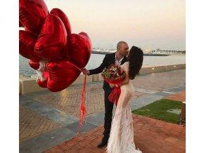 Balónky ve tvaru srdce