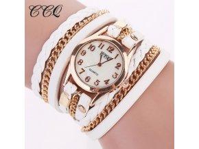 Dámské módní kožené hodinky s řetízkem (Barvy bílá)
