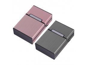 Hliníkové pouzdro na cigarety (Barvy růžová)