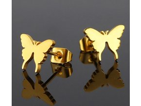 Dámské náušnice motýlek