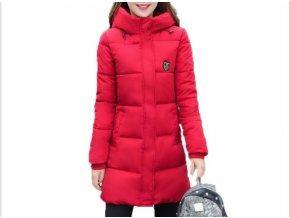 Dámská dlouhá zimní bunda  s kapucou