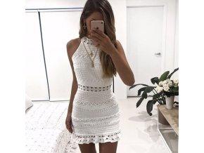Dámské háčkované šaty