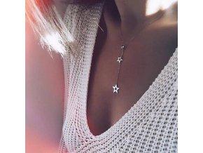 Vrstvený náhrdelník s přívěsky