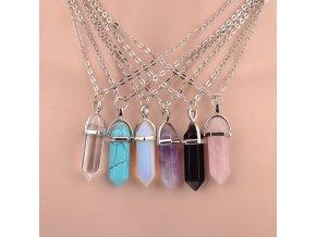 Dámský náhrdelník s přívěskem krystalu