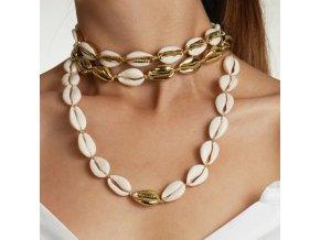Dámský náhrdelník z mušliček