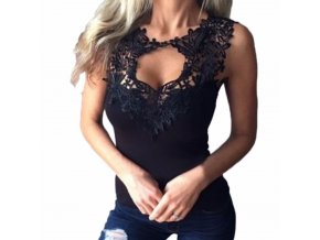 Dámský módní top Rita (barva černá, Velikost S)