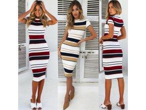Dámské pruhované šaty