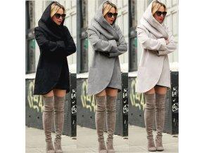 Dámský zimní kabát (barva černá, Velikost S)