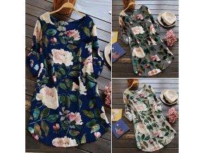 Dámské šaty s květinami