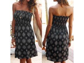 Dámské šaty s odhalenými rameny
