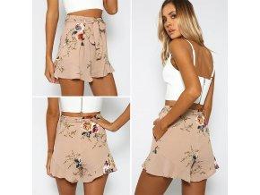 Dámské letní šortky s květinami