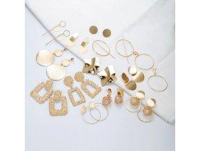 Dámské náušnice - různé tvary