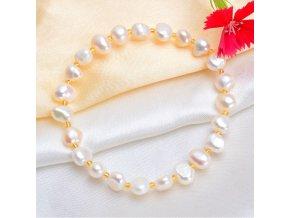 Dámský náramek s perličkami