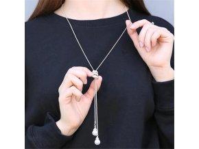 Dámský náhrdelník s perličkami