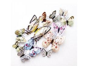 Set barevných motýlků