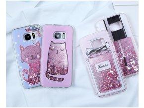 Třpytivý obal na Samsung s motivy