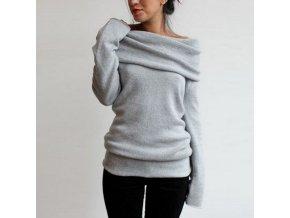 Pletený svetr s dlouhým rukávem (barva khaki, Velikost XL)