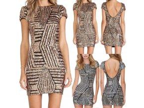 Zářivé společenské šaty