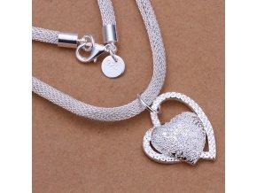 Dámský náhrdelník se srdíčkem