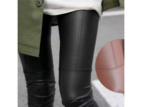 Dámské kožené kalhoty (barva hnědá, Velikost 2XL)