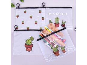 Kosmetická taštička s kaktusy