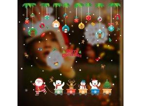 Vánoční dekorace na okno