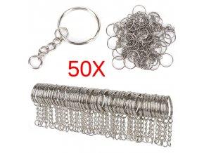 50 kusů koleček na výrobu klíčenky
