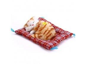 Plyšová hračka spící kočička (Varianta 5)