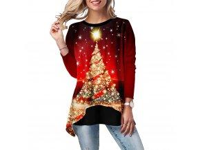 Vánoční tričko s dlouhým rukávem