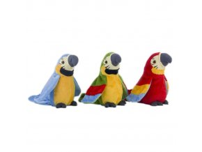 Mluvící plyšový papoušek
