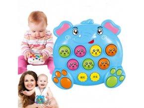 Dětský hrací slon a medvídek