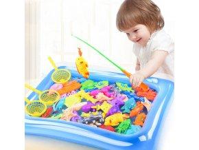 Dětský rybářský prut + rybičky s bazénem