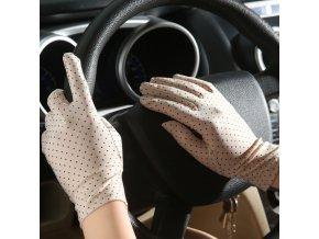 Ochranné rukavice s puntíky
