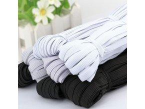 Široká guma - černá a bílá (Barva Bílá, Velikost 3 mm)