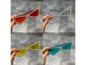 Dámské sluneční brýle s kamínky