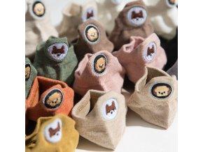 Kotníkové ponožky s motivem pejsků