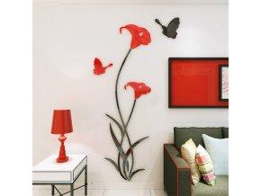 3D zrcadlová dekorace na zeď BUTTERFLY