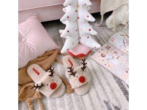 Vánoční pantofle se sobem