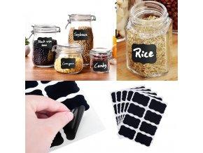 3 main 32pcs4 sets blackboard spice sticker reusable jam labels kitchen stickers organizer wall sticker home decor chalkboard label