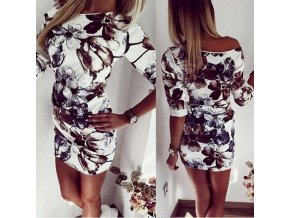 Dámské elegantní květované šaty
