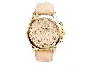 Luxusní dámské kožené hodinky (Barvy béžová)