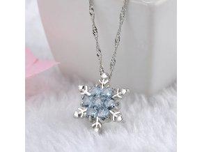 Dámský náhrdelník kouzelná vločka (Barvy tyrkysová)