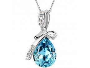 Elegantní postříbřený dámský náhrdelník